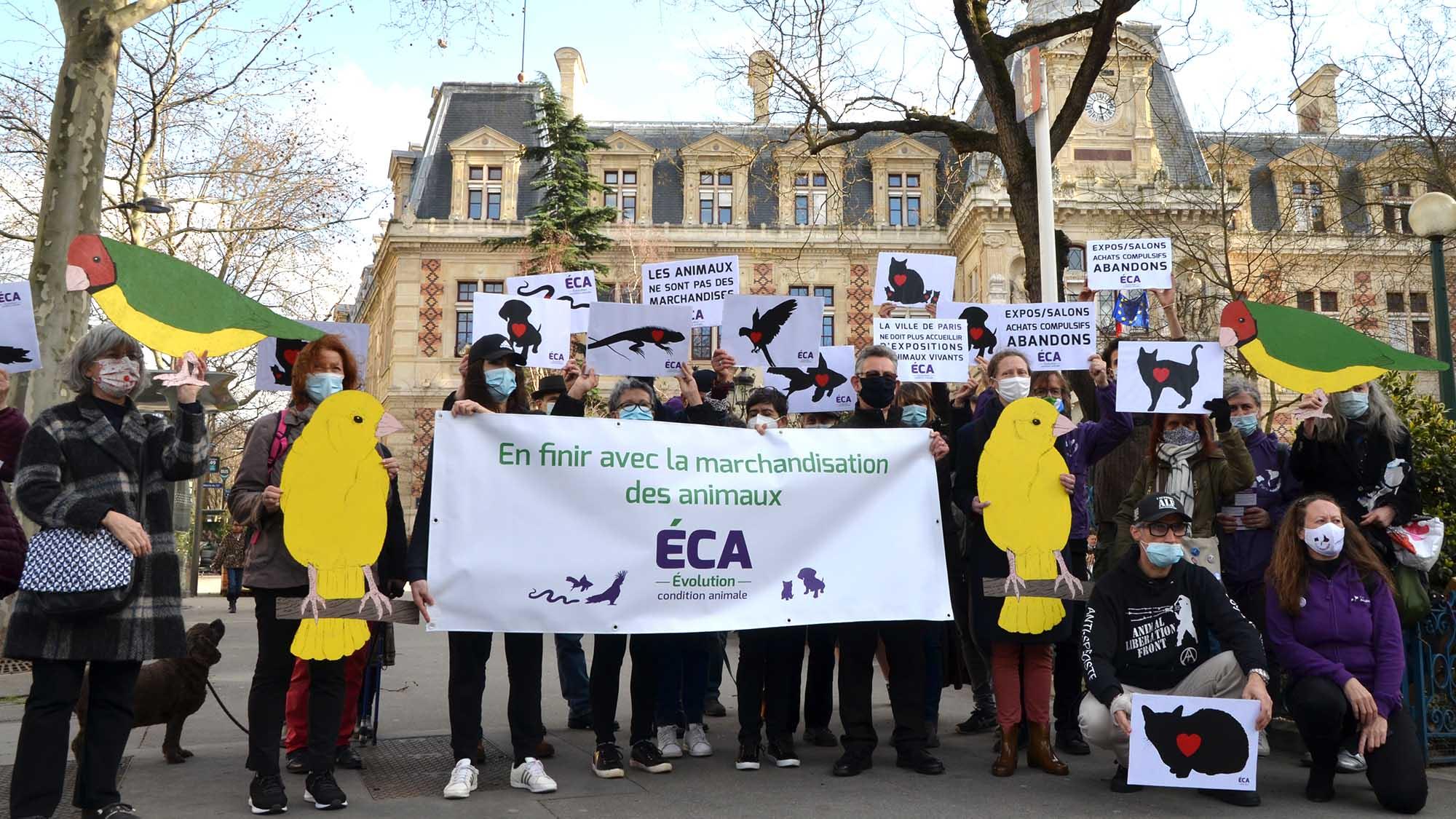 Un pas important contre la marchandisation des animaux à Paris